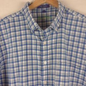 Alan Flusser shirt 100% cotton XXL short sleeve